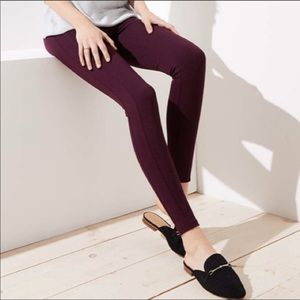 Loft Pintucked Ponte Leggings